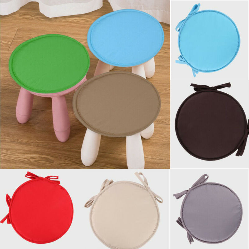 Chair Seat Pad Cushions Brief Solid Indoor Dining Garden Patio Home Office Kitchen  Tie-on Dining Cushion Removable