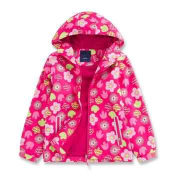 Teenage Girls Spring Jacket Girls 2020 Newest Print Hooded Zipper Windbreaker For Girls Waterproof Jacket Kids Outerwear Clothes
