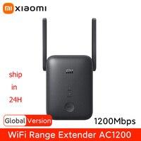 Versión Global Xiaomi Wifi repetidor 5GHz de malla de rango Wifi extensor AC1200 1200Mbps Wi-Fi amplificador de señal Mi Router inalámbrico