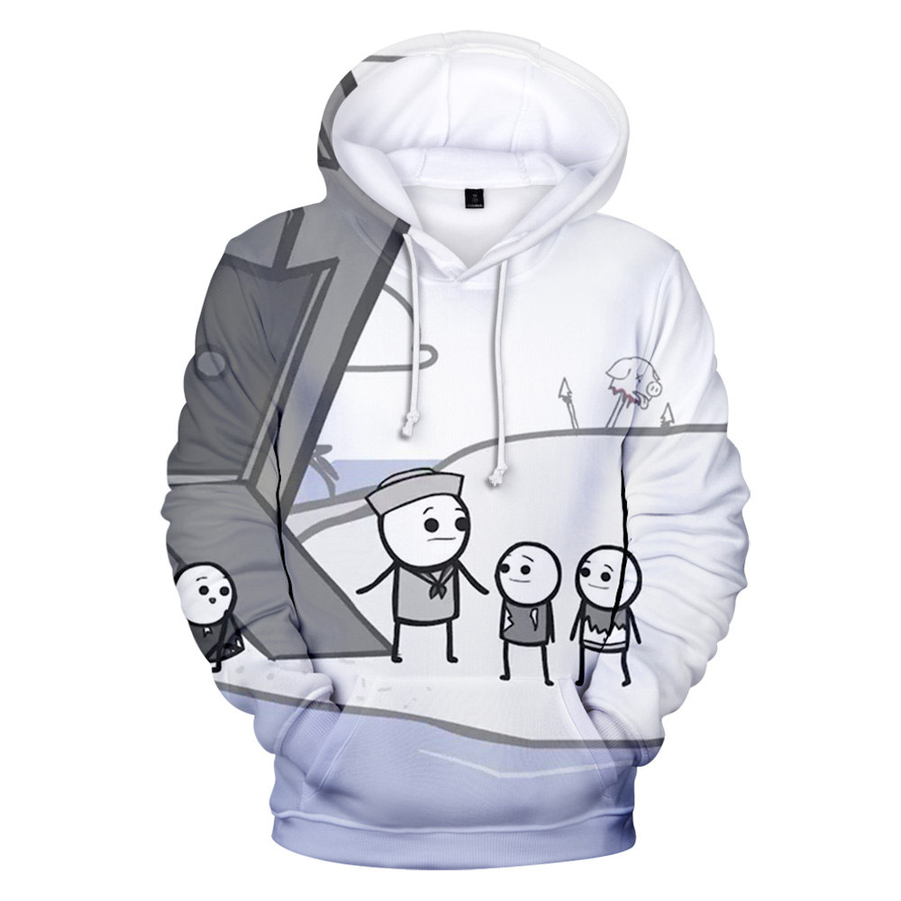 3D The Cyanide & Happiness Show Hoodies Sweatshirts Hooded Pullover Sweatershirts Men/women Autumn Winter 2020 Hoodies Casual image