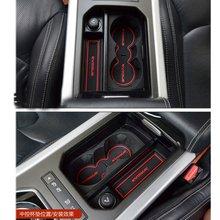 Porta do carro esteira de borracha interior copo almofada poeira esteira lnanterior anti deslizamento porta entalhe esteira para range rover evoque 2012-2018 estilo