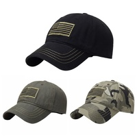 Flag Embroidery Hat Thin Blue Line Flag Low Profile Tactical Hats Embroidered Cap Outdoor Sport Cycling Running Hats