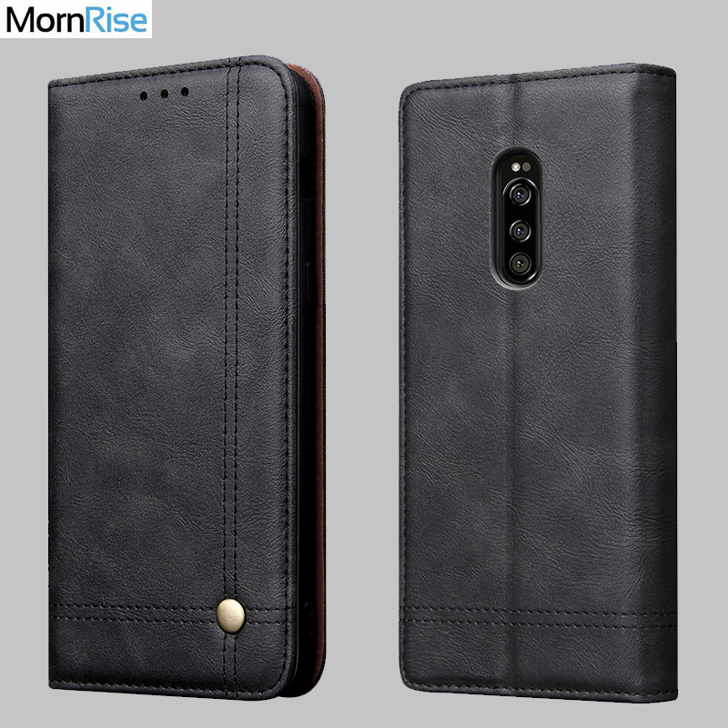 Luxury Retro Slim Leather Flip Cover For <font><b>Sony</b></font> <font><b>Xperia</b></font> <font><b>A1</b></font> <font><b>Case</b></font> Wallet Card Slot Stand Magnetic Book Cover For <font><b>Sony</b></font> <font><b>A1</b></font> Phone <font><b>Cases</b></font> image