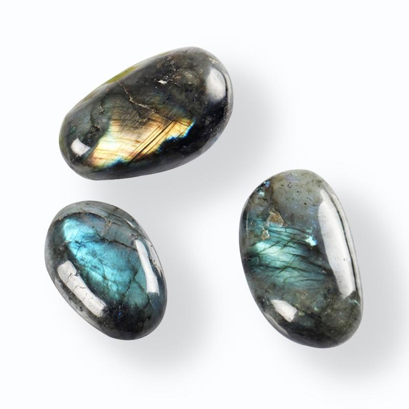 100g Natural Labradorite Tumbled Stone Kambaba Jaspere Healing Bead Point Reiki Chakra Large size Crystal Free Pouch Send Random