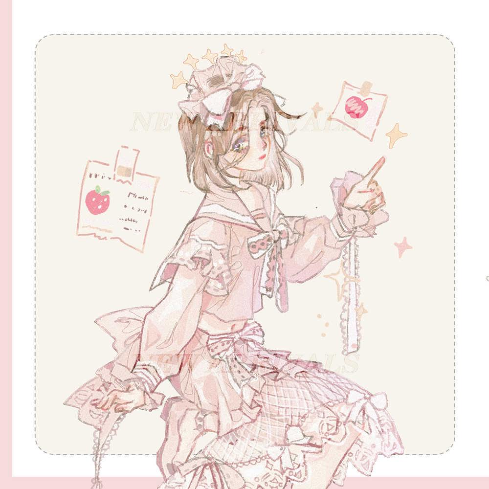 Cinta Washi para pastel de fresa y niña dulce