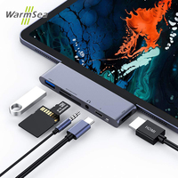 USB C Hub for iPad Pro 2018 USB Type C to 4K HDMI Adapter USB SD/TF Card Reader 3.5mm Headphone Jack PD Charging For MacBook Pro