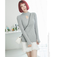 Spring Fall Women Knitted Sweater High Elastic Turtleneck Woment Clothing Slim Sexy Tight Bottoming Pullovers Tops C368