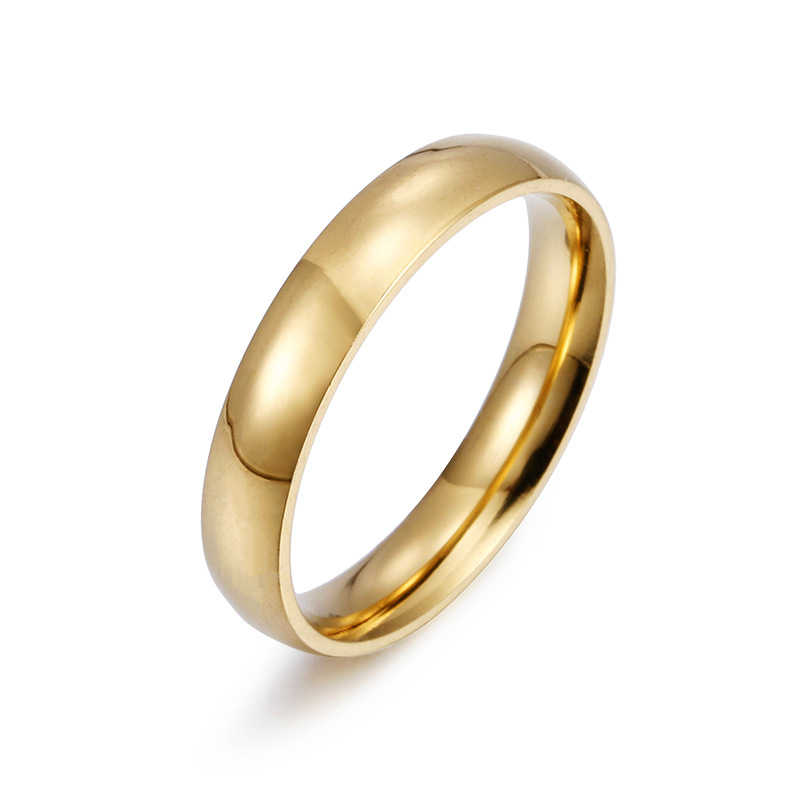 Rose Gold Rvs Ringen Voor Vrouwen Sieraden Gouden Ring Mannen Paar Verlovingsringen Mannen Wedding Promise Ring Vrouwelijke Geschenken