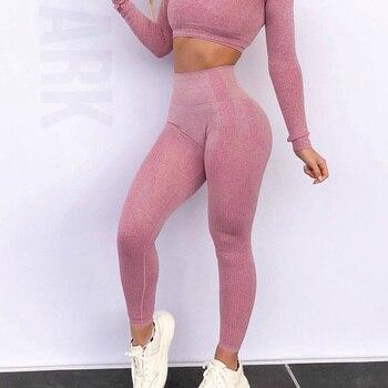 Sport Yoga Gradient color energy Legging Women Workout Fitness Jogging Running Pants Gym Tights Stretch Sportswear Yoga Leggings 6