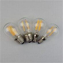 Светодиодсветодиодный лампа накаливания 4 Вт, 8 Вт, 12 Вт, 16 Вт, 220 В, G45, светодиодсветильник лампа накаливания в стиле ретро Эдисона E14, E27, сменн...