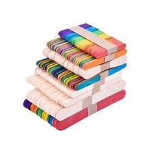 50 шт/лот diy детские игрушки ручной работы деревянные палочки