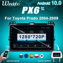 2 Din Android 10 Phát Thanh Xe Hơi PX6 Dành Cho Xe Toyota LAND CRUISER Prado 120 2003 2009 Điều Hướng Tự Động Âm Thanh GPS đa Phương Tiện Xe Hơi 2din