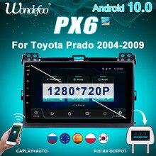 2 din android 10 carro rádio px6 para toyota land cruiser prado 120 2003-2009 navegação auto áudio gps multimídia carro estéreo 2din