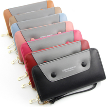 MONNET CAUTHY New Arrival Long Wallets Classic Fashion High Capacity Multi-card Slot Purse Patchwork Color Blue Brown Red Wallet