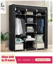Armoire en tissu Portable pliable et étanche, armoire de rangement pour vêtements, meubles de maison HWC