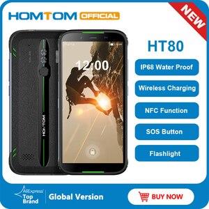 Image 1 - HOMTOM HT80 Android 10 IP68 Wasserdichte LTE 4G handy 5,5 zoll 18:9 HD + MT6737 Quad Core NFC Drahtlose lade SOS Smartphone