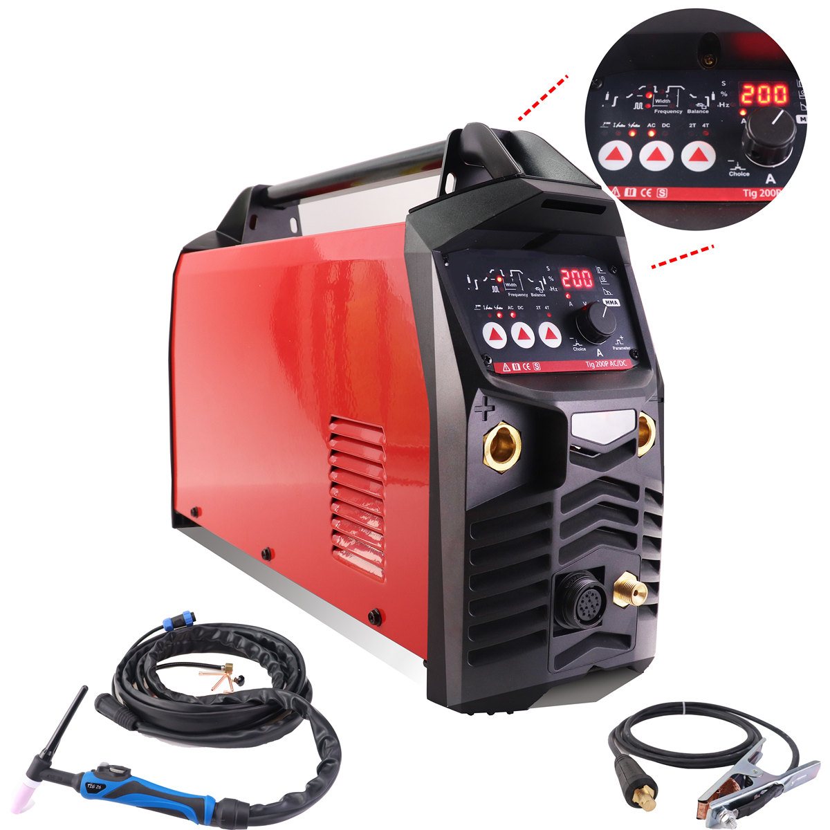 Aluminium Welder ACDC TIG Welding Machine 200A Digital Pulse TIG/MMA CE Approved Professional AC/DC Pulse TIG Welding Machine image
