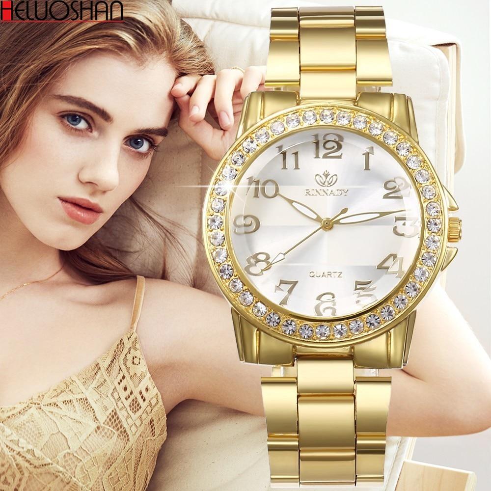 2019 Luxury Women's Stainless Steel Chain Belt Quartz Watches Fashion Bracelet Clasp Ladies Gold Silver Wrist Watch Montre Femme
