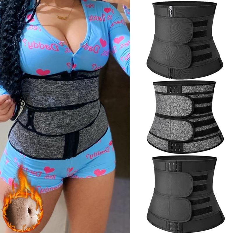 Steel Boned Waist Trainer Women Belly Shaping Trimmer Belt Neoprene Body Shaper Tummy Sweat Shapewear Slimming Sheath Corset