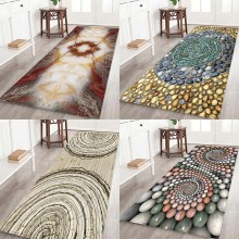 Pebble floor pads, rotating flowers, printing, Anti-Slip, absorbent, flannel, home mats. food pisahua printing flannel home anti slip absorbent floor mat,round floor mat