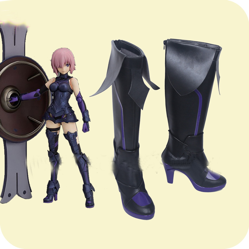 Fate Grand Order Mash Kyrielight Boot Party Shoes Cosplay Boots Custom-made