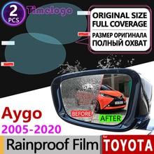 For Toyota Aygo 2005 - 2020 Full Cover Anti Fog Film Rearview Mirror Rainproof Anti-Fog Films Accessories 2013 2015 2017 2018