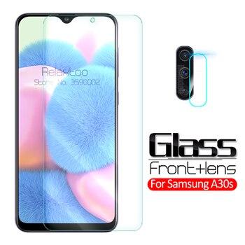Перейти на Алиэкспресс и купить 2-в-1 камера Защитное стекло для samsung Galaxy a30s 2019 защитная пленка из закаленного стекла на sumsung a30s 30s a307F SM-A307F Защитная пленка для экрана