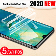 5/3/1Pcs for huawei mate 20 20x 30 pro lite soft full cover hydrogel film Not Glass protective film screen protector smartphone