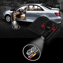 2X Car Door Logo Light Welcome Lamp Laser DC 5V Universal Wireless Projector wireless Atmosphere