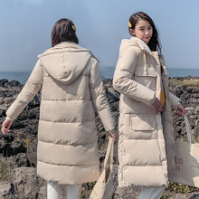 DROWYD Fashion Winter Hair Hooded Cotton Coat for Women New 5-color Casual Windproof Thick Warm Long-coat Elegant Loose Top Coat coat 5