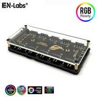 Cable divisor RGB AURA de 12V y 4 pines, 5V, 3 pines, ARGB RGBW, funda Hub con adaptador de Cable de extensión y cinta de luz LED, Enfriador de ventilador de PC RGB