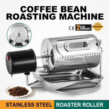 Stainless Steel Coffee Bean Roasting Machine 220V 40W Coffee Roaster Kitchen