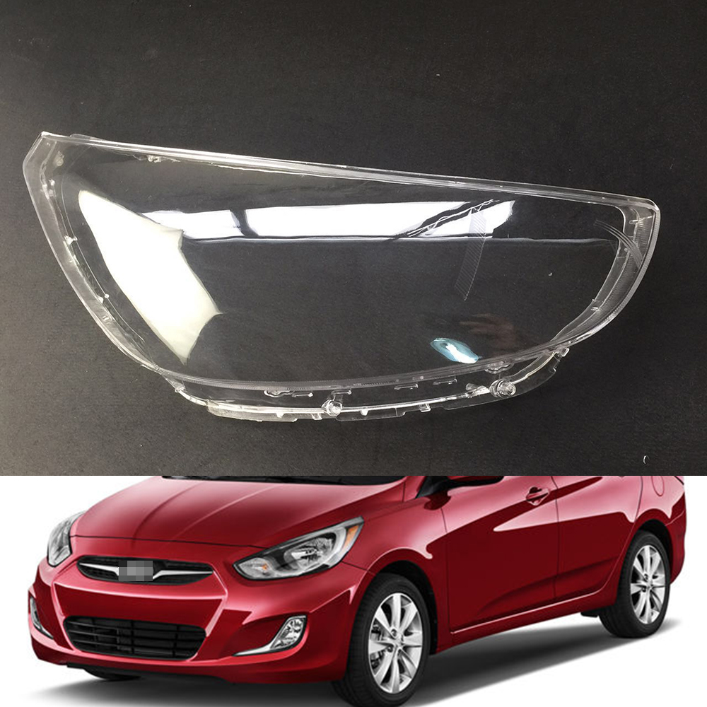 Car Headlight Lens For Hyundai Accent 2011 2012 2013 2014  Car Headlamp Cover Replacement   Front Auto Shell Cover