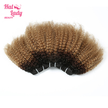 Human-Hair-Extensions Kinky-Wave Remy-Hair Brazilian for African-America Women Halo Weaves