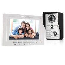 OWSOO 7 дюймов проводной видео дверной звонок видеодомофон непромокаемая камера визуальный домофон двухсторонний аудио пульт дистанционного разблокирования видеодомофон