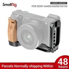 Smallrig a6400 l placa a6300 l-suporte para sony a6400 e a6300 característica com qr liberação rápida arca estilo placa apl2331b