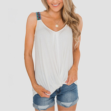 2020 V-Neck Tops Tee Women Sleeveless Loose Slim Fit Tops Sexy Soft Tee Vest men contrast neck tee