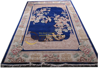 aubusson rug Floral Design Pure Wool Hand Knotted Rug Embroidered Antique Decor Round Rug New Carpet Wool Knitting