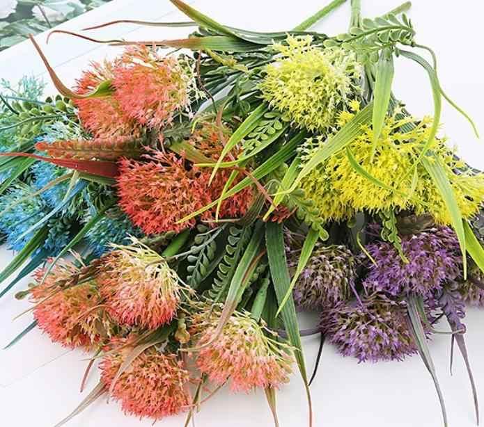 Artificiale del dente di leone rami di fiori decorazione di cerimonia nuziale piante finte festa di natale casa decalcomanie falsi fiori