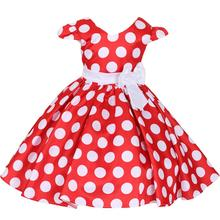 Cute Polka Dots Minnie Dress Girls Baby Kid Birthday Party Photography Cake Smash Outfit Pleated Ball Gown Dress for Photo Shoot