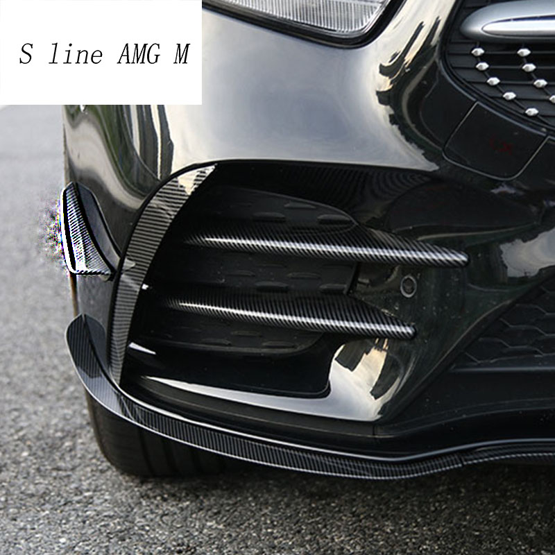 Car Styling For Mercedes Benz A Class W177 Head Fog Lamp Grille Slats Auto Lights Covers Stickers Trim Carbon Fiber Accessories