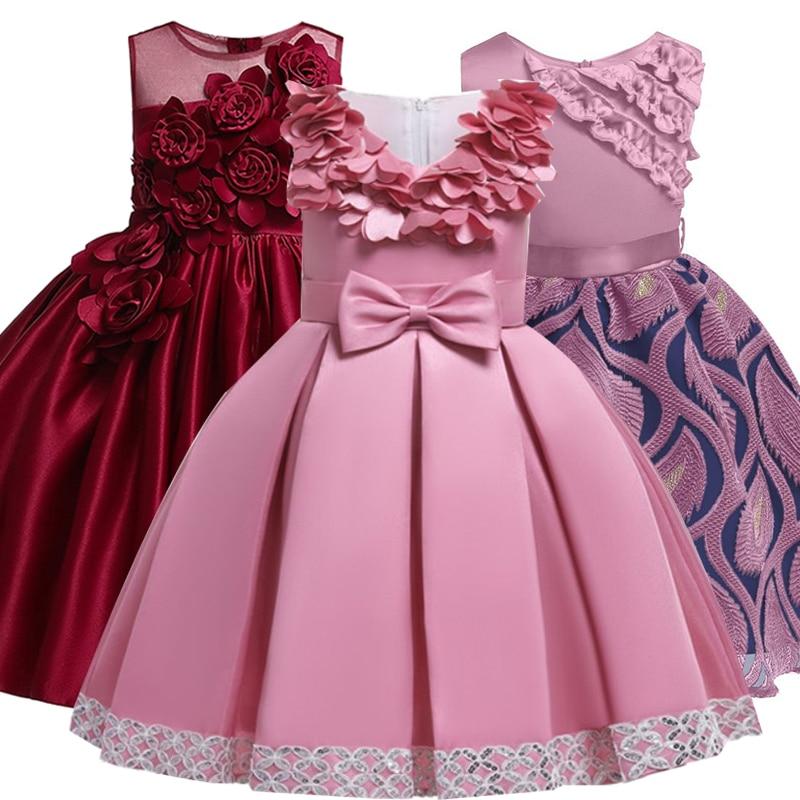 2019 Christmas Dress Girls Elegant Princess Dress Kids Dresses For Girls  Costume Wedding Evening Party Gown Children 2 8 10 Year