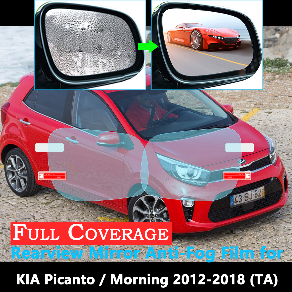Full Cover Protective Film For KIA Picanto Morning 2012~2018 Car Rearview Mirror Rainproof Anti-Fog Accessories Stickers  2017
