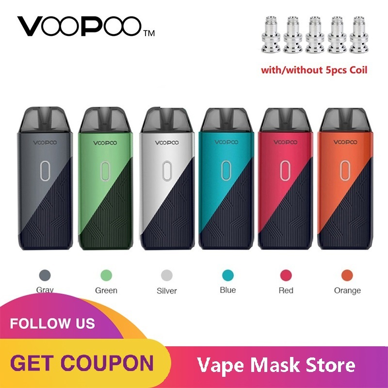 Original VOOPOO ENCONTRAR TRIO Kit com 1200mAh Battery & 3ml Pod Pod & 0.8ohm/1.2ohm PnP Bobina e-cig Vape Kit