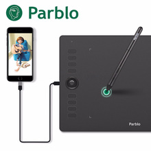 Parblo A610 Pro Graphic Drawing Tablet Support Phone Android USB 8192 Pressure 10×6.25'' Digital Drawing Board Design Art touch parblo a610 10x6 graphics tablet art drawing tablets usb support protective film anti fouling glove spare pen nibs