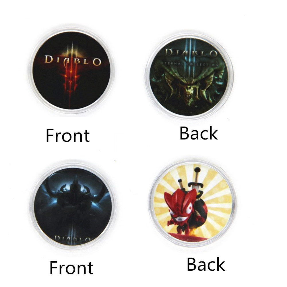 1Pcs Readable Amiibo Diablo 3 Game Card NS Switch NFC Stickered Round Collected Coin Ntag215 New Data Seting Elite + Loot Goblin image