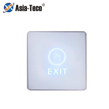 Przycisk przełącznika podświetlenie dotykowy przycisk wyjścia otwierania drzwi do otwierania System kontroli dostępu do drzwi nadaje się do bezpieczeństwo w domu ochrona tanie i dobre opinie LUCKING DOOR CN (pochodzenie) 86*86*21mm DC12V Exit Button NO NC COM