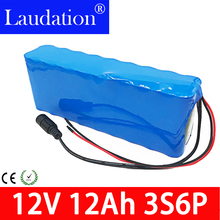 12v battery lithium battery 12v 12ah battery Camera rechargeable lithium ion battery BMS 18650 pack 12v/ 12.6v  electric scooter