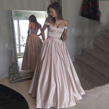 elegant evening dress long Women's Real Photos Blush Colored Satin A Line Prom Dress Sexy cap sleeve formal dress Vestido - DISCOUNT ITEM  20% OFF All Category