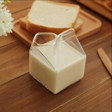 Стеклянная чашка, молочная коробка, кофейные чашки, креативная бутылка для сока, прозрачная стеклянная подарочная посуда для дома и кухни